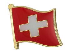 SWITZERLAND - Flag Lapel Pin Badge  High Quality Gloss Enamel