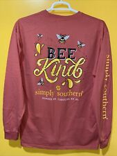 Women's Simply Southern Long Sleeve Color Spice Size Large BEE🐝 KIND