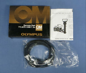 Olympus OM System Flash TTL Auto Cord T 2m for SLR Genuine Zuiko NIB
