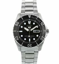 Seiko 5 Sports Automatic Black Stainless Steel Men's Watch SNZF17