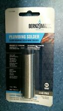 Bernzomatic Ssw100 Plumbing Solder Silver Bearing Solid Wire Free Ship