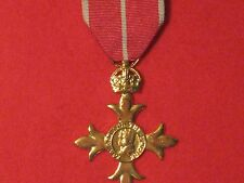 FULL SIZE OBE MILITARY MEDAL MUSEUM STANDARD COPY MEDAL WITH RIBBON.