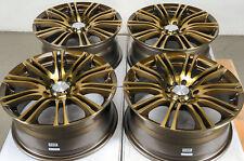"""16"""" Bronze Effect Wheels Rims 5 lugs Scion TC Xd Forester Impreza Corolla Civic"""