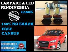 AUDI A1 LAMPADE FENDINEBBIA H11 LED CREE RESISTENZA CANBUS 6000K
