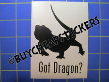Bearded Dragon Got Dragon? Vinyl Decal - Sticker 3x4 - Any Color