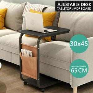 Beistelltisch Sofatisch Kaffeetisch Betttisch Laptoptisch mit Rollen schwarz DHL