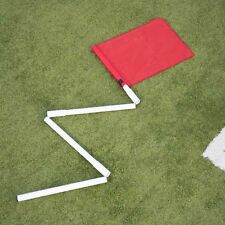 4 x COLLAPSIBLE CORNER POSTS + 4 RED FLAGS + CARRY BAG