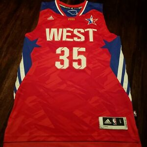 KEVIN DURANT ALL STAR JERSEY  WEST #35 2013  ADIDAS SMALL NBA BASKETBALL