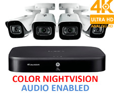 Lorex Security 4K Hd Surveillance System 4 Mpx Cameras Audio Color Nightvision