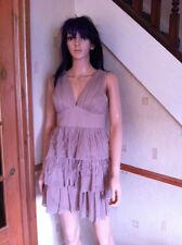 Ladies Womens Sleeveless Nude Coloured Pixie Lott Limited Edition Lipsy Dress