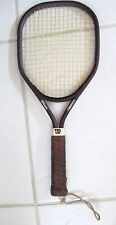 """Wilson Aggressor Racket 4 1/8S Leather Handle 18 6/16"""" Long X 7 14/16"""" Wide"""