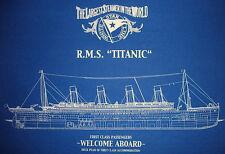 "Vintage White Star Line TITANIC Print 1st Class Blueprint Plan 19""x30""  (001A)"