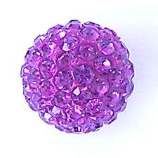 10 Fuchsia Rhinestone clay pave 10mm beads for Shamballa Bracelets