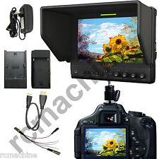 "Lilliput 7"" 663/S2 IPS 3G-SDI HD Peaking HDMI Monitor for Blackmagic BMCC Canon"