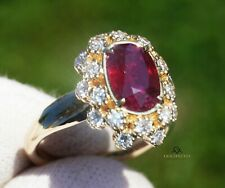 Ruby Ring Diamond Gold Natural 14K NO HEAT GIA Certified 2.91CTW RETAIL $11,800