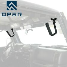 OPAR 1997-2006 Jeep Wrangler TJ & Unlimited Front Grab Handles Grab Bars Black