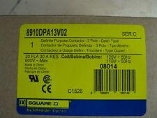 SQUARE D 8910DPA13V02 DEFINITE PURPOSE CONTACTOR 3P-OPEN TYPE 120V COIL