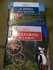 Lot of 2 Life in Series: Pond in a Meadow & Clearing in a Forest (Hardcovers)