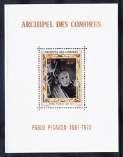More details for comoros is 1973 sgms144 100fr picasso - mini-sheet - unmounted mint. cat £41