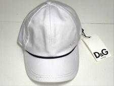 D&G New Boys BABY Cotton LOGO BASEBALL CAP HAT CONTRAST TRIM 6-12m RTL $40 Q347