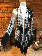 Rocker CHIC Tie Dye Navy Gray Draping Layering Sheer Thin Jacket S