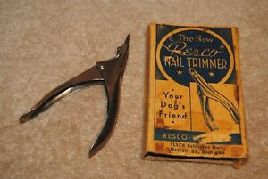 Vintage The New Resco Nail Trimmer Your Dog's Friend Detroit Mi with Box