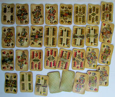 1900s ANTIQUE HUNGARIAN WILLIAM TELL PLAYING CARDS DECK