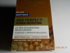 L'Oreal Paris Age Perfect Hydra-Nutrition Face Neck Chest Night Balm 1.7 oz.
