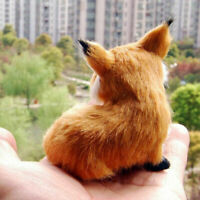 Realistic Stuffed Animal Soft Plush Kids Toy Sitting Home Decor 9*7*8cm Fox D5B4