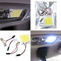 48 SMD COB LED T10 BA9S 4W 12V White Light Car Interior Panel Lights Dome Lamp F