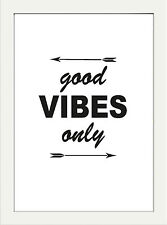 INSPIRATIONAL MOTIVATIONAL GOOD VIBES POSITIVE QUOTE POSTER PRINT HOME WALL ART