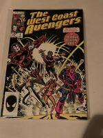 Marvel Comics The West Coast Avengers #1 1985 Iron Man Hawkeye