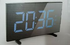 Digital Alarm Clocks for Bedrooms 6.5 Inches LED Clock with Blue Digits 2 Alarms