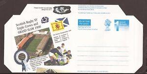 GB. Aerogramme pre-paid Airmail Envelope (Unused) Scottish Rugby, Triple Crown