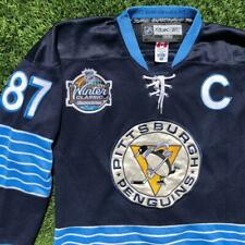 Reebok 2011 Winter Classic Pittsburgh Penguin Crosby FIGHT STRAP Jersey 48