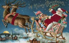 Wentworth Wooden Jigsaw Puzzle Santa in his Sleigh 40 Pieces NEW