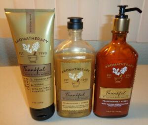 Bath & Body Works Aromatherapy Thankful Body Wash & Lotion Frankincense & Myrrh