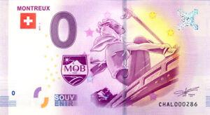 SUISSE Montreux, Skieuse, N° de la 5ème liasse, 2017, Billet Euro Souvenir