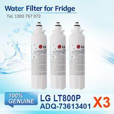 3x GENUINE LG ADQ73613401, LT800P FRIDGE FILTER