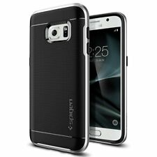 Spigen Neo Hybrid Shockproof Cover Protective TPU Case for Samsung Galaxy S7 Satin Silver