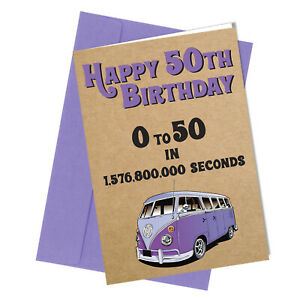 #324 0 - 50 In Seconds 50th Birthday Greetings Card Comedy Funny Rude