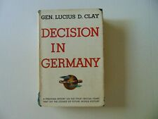 """""""Decision In Germany"""" General Lucius D. Clay Hand Signed Book JG Autographs COA"""
