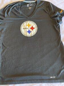 NFL Nike Dri-fit Womens Size Medium Team Apparel Pittsburgh Steelers