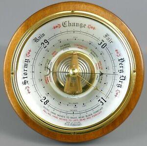 "Vintage Large Shortland Bowen Skeleton Round Wall Barometer 8""    |103"