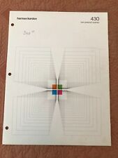 Original Harman Kardon 430 Receiver Brochure - fold out 6 pages
