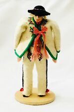 Vintage Polish Doll Wedding Doll Lalki Regionalne Krakow Hand Made 5""