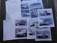 Porsche 1990 Model Year Product information with 8x10 photos