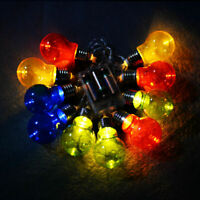 Christmas LED String Ball Lights Xmas Wedding Party Decor Lamp Colorful Clear