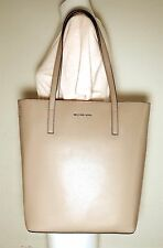 MICHAEL MICHAEL KORS EMRY LARGE CONVERTIBLE BISQUE LEATHER TOTE BAG