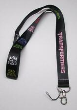 Black TRANSFORMER LANYARD KEY CHAIN Ring Keychain ID Holder NEW